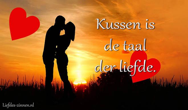 Liefdes teksten over kussen en zoenen