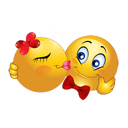 Kussende liefdes smilie